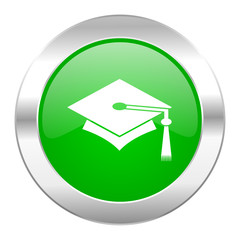 education green circle chrome web icon isolated