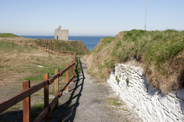 fenced path to Ballybunion beach
