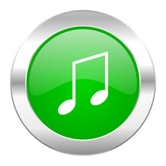 music green circle chrome web icon isolated