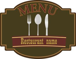 Restuarant menu