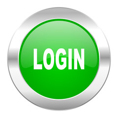 login green circle chrome web icon isolated