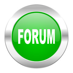 forum green circle chrome web icon isolated
