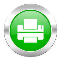 printer green circle chrome web icon isolated