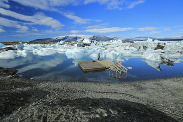 Jokulsarlon is a large glacial lake in Iceland