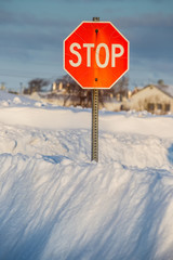 Winter Stop Sign