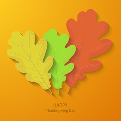 Vector modern thanksgiving day background.