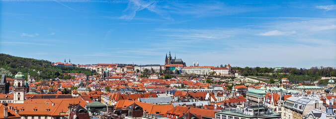 Panorama of Stare Mesto and St. Vitus Cathedral