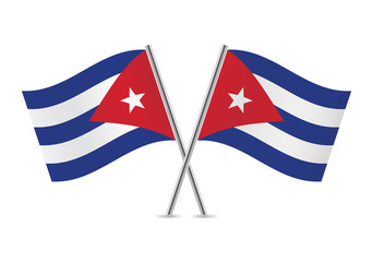 Cuban flags. Vector illustration.