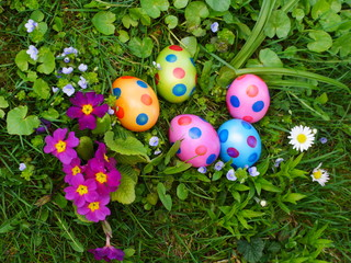 easter eggs lawn