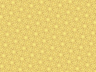 Abstract yellow circle caleidoscope background