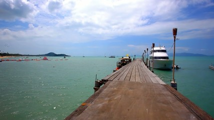 pierwith bridge on the island of Koh Samui in Bophut area