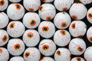 Chocolate candy eyeballs for Halloween treats