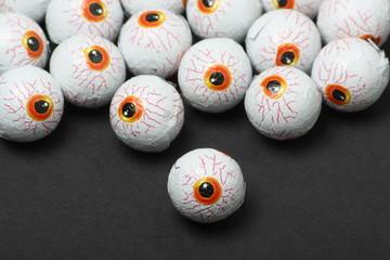 Chocolate candy eyeballs for Halloween treats