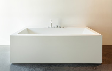 Interior, white bathtub