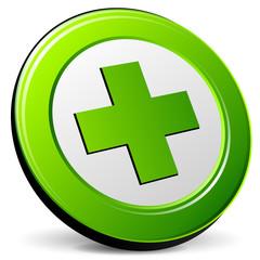cross green icon