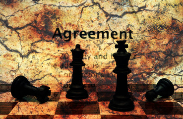 Agreement grunge concept