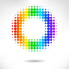vector color dot background