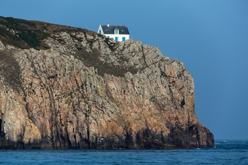 Home on high cliff