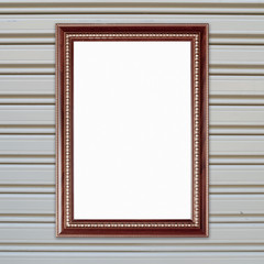 blank wood frame on metall door texture