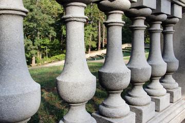 Stone balustrade fence