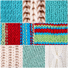 Knitted fabric collage