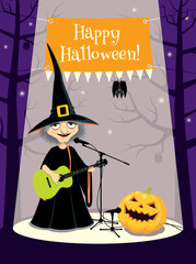 Halloween concert, greeting card