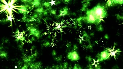 Abstract Star Shapes, Space - Loop Green