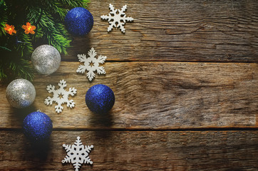 Christmas decorations with Christmas balls