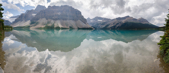 panoramica del lago Bow sulla Icefield Parkway