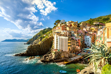 Mediterranes Dorf am Meer
