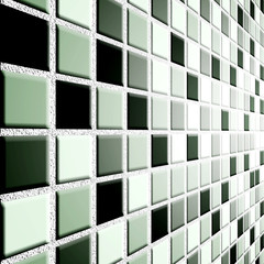 black white tile wall