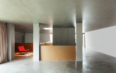 interior house, concrete wall