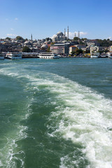 View of Istanbul from the ferry