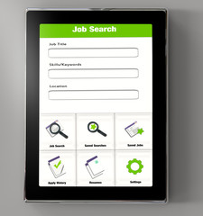 Tablet app job search