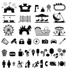 Amusement park icons.