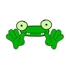 funny frog animal vector
