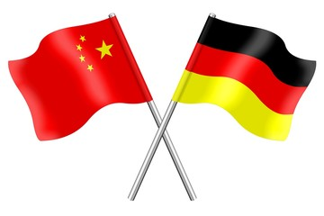 Flags: China and Germany