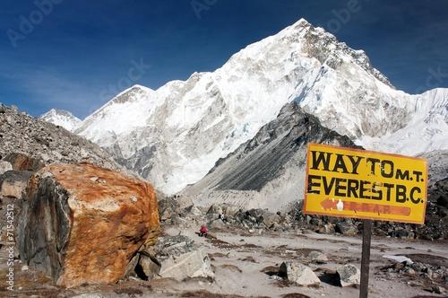 Poster Nepal Nuptse peak