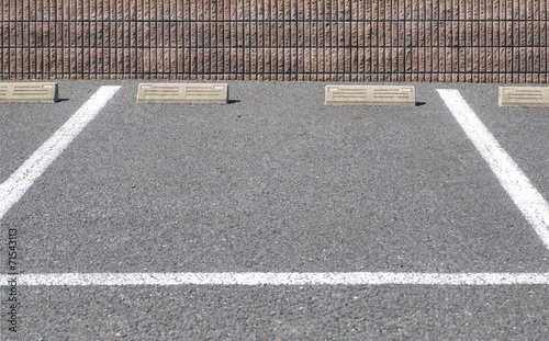 Empty outdoor space in a Parking Lot - 71543113