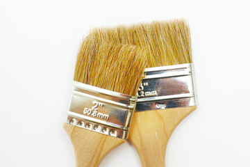 Two new renovation brushes close up
