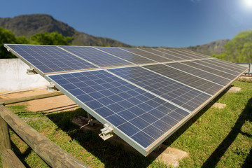 A photo voltaic solar power installation in South Africa