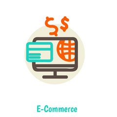 Flat design vector illustration concepts of online payment