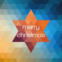 Weihnachtskarte Stern quadratisch