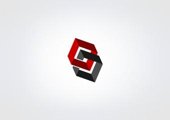 Box building modren symbol 3D icon kube conttruction vector