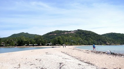 White Sandy Tropical Beach of Island in Thailand.