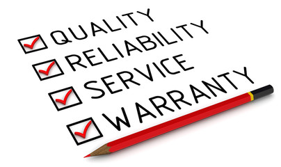 Quality, reliability, service, warranty