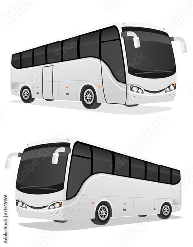 big tour bus vector illustration - 71545159