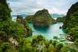 Leinwanddruck Bild - landscape of Coron, Palawa, Philippines