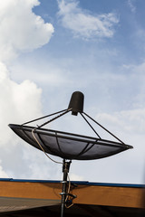 satellite dish on roof