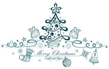 Abstrakter Weihnachtsbaum, Merry Christmas